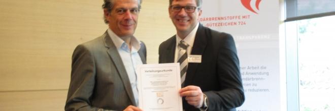 RAL-Gütezeichen 724 an die Firma GWA – Gesellschaft für Wertstoff- und Abfallwirtschaft Kreis Unna mbH verliehen